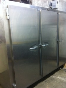 Traulsen-Commercial-3-Door-Freezer-used-true-refrigerator-Traulsen Commercial three-Door Freezer-stainless-steal